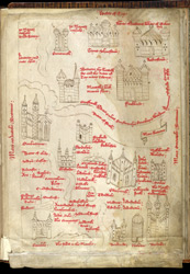 John Harding's Map Of Scotland, Ca. 1450 f. 187